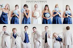 Personality shots of bridal party   Ashley McCormick Photography