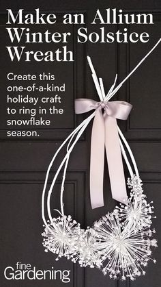 If you're looking for a one-of-a-kind holiday craft project that will help ring in the snowflake season, look no further. This wreath uses garden trimmings from a favorite shrub and some dried seed heads to create a lovely and sophisticated decoration. Snowflake Ring, Snowflakes, Diy Garden Projects, Craft Projects, White Spray Paint, Fine Gardening, Different Holidays, Deciduous Trees, Frame Wreath