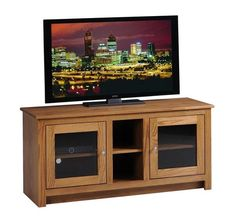 "Amish Express Berlin 52"" TV Stand - Quick Ship Amish Express Berlin 52"" TV Stand Quick Ship. Build time for this TV Stand is 2 to 3 weeks. Choice of oak or cherry wood. Amish made in Ohio. #DutchCrafters"