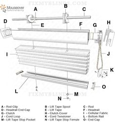 1000 images about blind repair diagrams visuals on pinterest honeycomb shades cellular. Black Bedroom Furniture Sets. Home Design Ideas