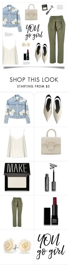 """""""You Go Girl!"""" by diane1234 ❤ liked on Polyvore featuring Rebecca Taylor, CÉLINE, Raey, Maison Margiela, River Island, Make, Bling Jewelry, girlpower and topfashionproducts"""