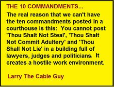 Larry The Cable Guy -On The Ten Commandments