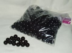 Marbles Glass Black 250 pcs Great for Crafts by WMCraftSupplies