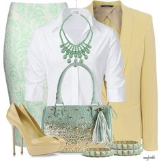 """""""Mint/Gold Contest 3"""" by amybwebb on Polyvore"""