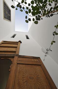 Moroccan carved wood doors