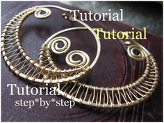"How To Make Your Own Jewelry This tutorial teaches you how to make woven wire hoop earrings in 16 detailed steps and 17 instructional pictures. Level is intermediate, you need to know how to make a spiral have a grip on basic wire shaping, coiling and weaving. Materials:  • 18"" of 18-20 ga Round Soft or Half Hard Wire • 5' of 28-30 ga Round Soft Wire"