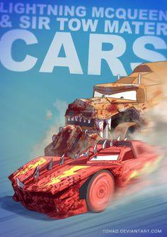 Lightning McQueen and Sir Tow Mater. Disney Cars, Lightning Mcqueen, Lightning Cars, Childhood Characters, Cartoon Characters, Tableau Pop Art, Realistic Cartoons, Tow Mater, Images Disney
