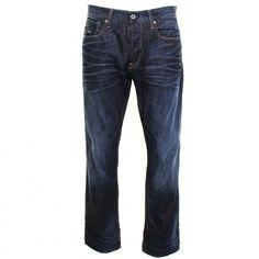 nice G Star Mens Dark Aged Wash 3301 Loose Fit Jeans