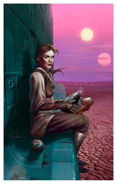 Amazing Princess Leia before the Jabba Rescue Star Wars Art