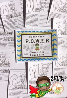 Do you want to empower your students with Super Hero Character Traits? Your students can explore the qualities that make super heroes great, all the while applying the traits to themselves. Leveled for a variety of uses! Get them now at The Best Days!