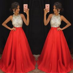 halter prom dress,satin ball gowns,ball gowns prom dress,beaded prom dress,luxurious evening gowns