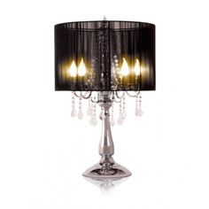 Modern contemporary black Baroque side table lamps ❤ liked on Polyvore