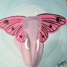 My elephant painting