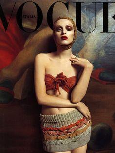 Karen Elson, Vogue, 2004