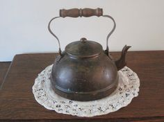 Vintage Copper Teapot Tagus 52 Portugal Primitive by PhotosPast, $30.00