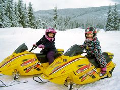 Kids snowmobiles tours in Whistler Blackcomb, BC #Whistler