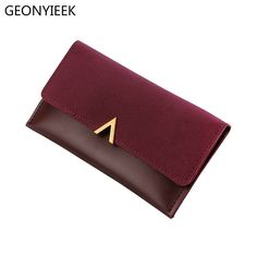 99b39216a 2018 Leather Women Wallets Hasp Lady Moneybags Zipper Coin Purse Woman  Envelope Wallet Money Cards ID