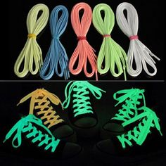 cordones zapatos140cm fluorescent shoelace One Pair Flat Luminous Light Sneaker Lace Glow Shoelaces Boot Trainer Shoes-in Shoelaces from Shoes on Aliexpress.com   Alibaba Group