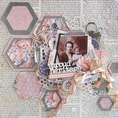 Celebr8 Our Story Scrapbook Designs, Scrapbook Page Layouts, Scrapbook Pages, Scrapbooking Ideas, Heritage Scrapbooking, Mixed Media Art, Stamp, Crafty, Projects