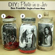 Ben Franklin Crafts and Frame Shop, Monroe, WA: DIY: I LOVE YOU Photos in a Jar