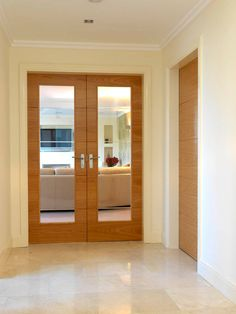 New Internal Door Design Kitchen Extensions Ideas Oak Interior Doors, Double Doors Interior, Oak Doors, Oak Glazed Internal Doors, Internal Double Doors, Wooden Sliding Doors, Sliding Door Design, Bedroom Door Handles, New Kitchen Doors