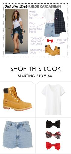 """""""Get The Look: Khloe Kardashian """" by athequeenb on Polyvore featuring Timberland, Uniqlo, Topshop and Current/Elliott"""