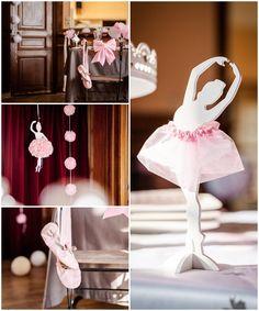 Un thème danseuse ballerine pour un anniversaire ou un bapteme fille.