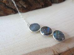 Labradorite necklacelabradorite Y necklace by PanachebyAmanda