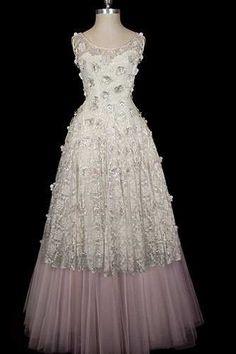 Givenchy floral tulle, circa. 1955