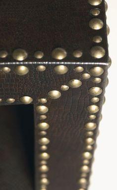 Brass upholstery tack design.