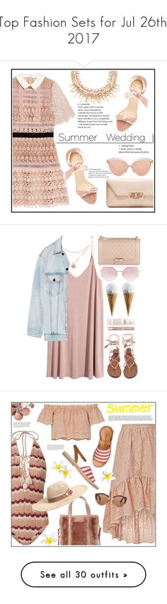 """""""Top Fashion Sets for Jul 26th, 2017"""" by polyvore ❤ liked on Polyvore featuring self-portrait, Linda Farrow, Tory Burch, Alexandre Birman, White Label, Summer, summerwedding, Alexander Wang, philosophy and Chanel"""
