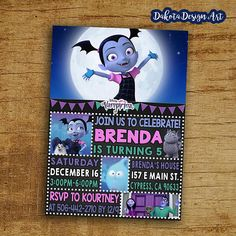 Vampirina Birthday Invitation, Vampirina Invite, Vampirina Themed Party  Invitation, Digital Printable Disney