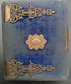 Vintage blue velvet Victorian album by goodgoods