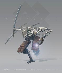 ArtStation - samurai drone, andrea susini