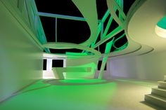 Light Center Speyer - architectural model in green by Peter Stasek Architect