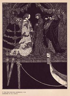 The assignation. Harry Clarke's Haunting 1919 Illustrations for Edgar Allan Poe's Tales of Mystery and Imagination Harry Clarke, Edgar Allan Poe, Louise Ebel, Art Nouveau, Art Postal, Mystery, Aubrey Beardsley, Allen Poe, Irish Art