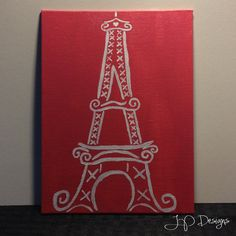 Eiffel Tower Painting by JPDesignsMA on Etsy, $10.00