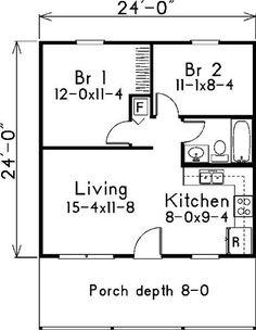 plano de casa clásica con 3 dormitorios