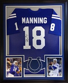 9afebefde Peyton Manning Framed Jersey Signed Mounted Memories COA Autographed  Indianapolis Colts at Amazon s Sports Collectibles Store
