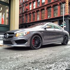 The intersection of Style & Power. #MBFWStreetStyle #MBFW #CLA45 #AMG