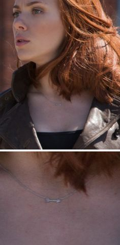 Zoom in on Black Widow's necklace in Captain America 2 trailer. It's an arrow! Get #freestuds $125+ and #freeshipping $100+ Shop here https://www.chloeandisabel.com/products/N135S/straight-shooter-sterling-pendant