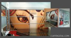 Eye-catching window decals printed by Cliff Digital