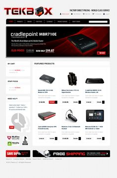 Custom designed e-Commerce website from the ground up. TekBox provides technology products to resellers and distributors. Portfolio Design, Ecommerce, Custom Design, Layout, Technology, Website, Products, Portfolio Design Layouts, Tech
