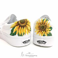 Hand Painted Shoes -  Sunflower
