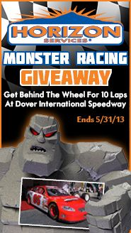 We're giving away the chance to race 10 laps behind the wheel at Dover International Speedway with Monster Racing! Enter now!