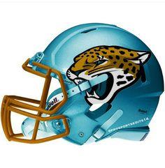 Jacksonville Jaguars Apparel Snap back Hats T Shirts Polo Stickers Football Helmet Design, College Football Helmets, Sports Helmet, Nfl Football Teams, Custom Football, Football Uniforms, Football Memes, Sports Uniforms, Football Stuff