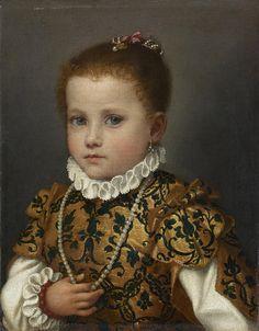 Giovan Battista Moroni - Ritrtto di bambina di casa Redetti - 1570-1573 - Accademia Carrara di Bergamo - percorso Moroni