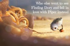 Pixar short Piper showing before Finding Dory