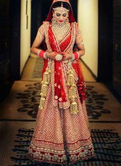 054a548c60 Indian Red Bridal Lehenga Choli Set at Zikimo Bridal Tips, Lehenga Choli