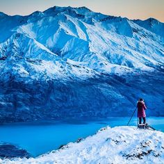 Chrystal from @midnight_photography taking photos of the winter wonderland in Wanaka. #gofollow by infarawayland